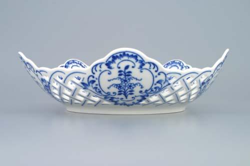 mísa cibulák pětihranná prolamovaná 24 cm originální český porcelán Dubí