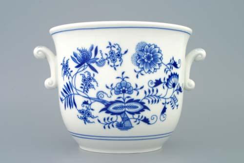 květináč cibulák s uchy 19 cm originální český porcelán Dubí