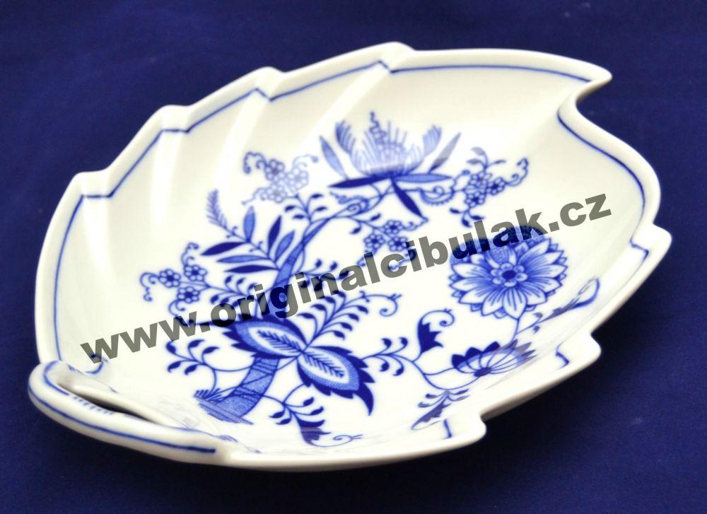 mísa cibulák list 22 cm originální český porcelán Dubí