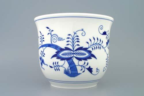 cibulák květináč bez uch bez nožky 22 cm originální český porcelán Dubí 2.jakost