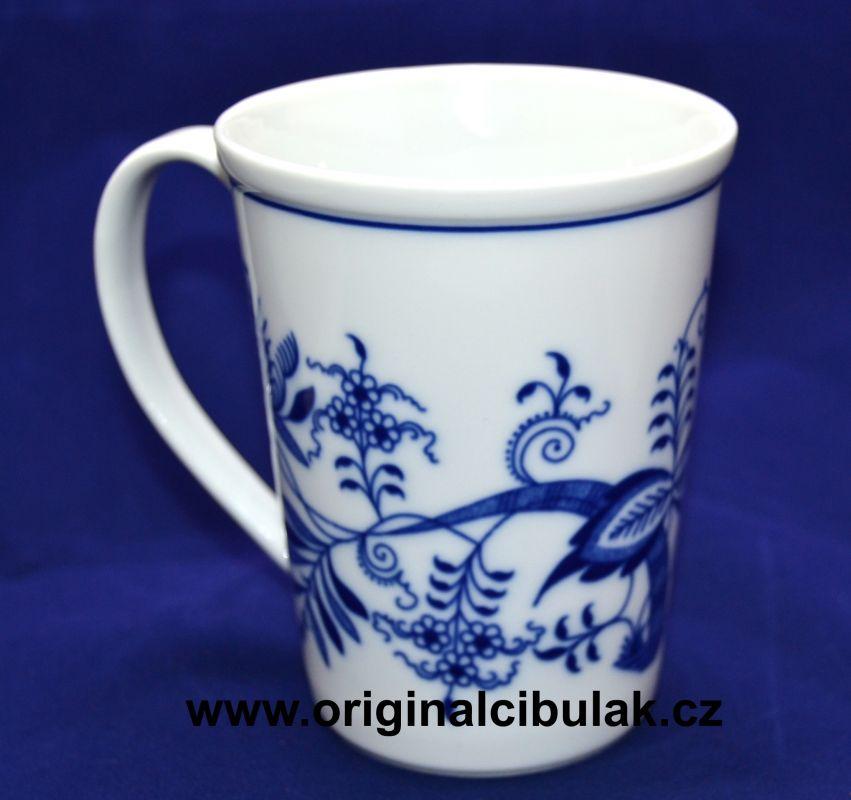 hrnek cibulák Erin M 0,42 l, originální český porcelán Dubí 2.jakost