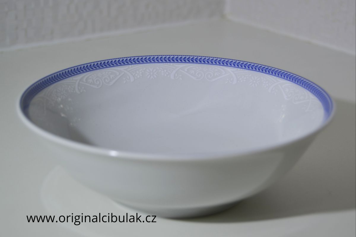 mísa kompotová Opál 16 cm krajka modrá Thun 1 ks český porcelán