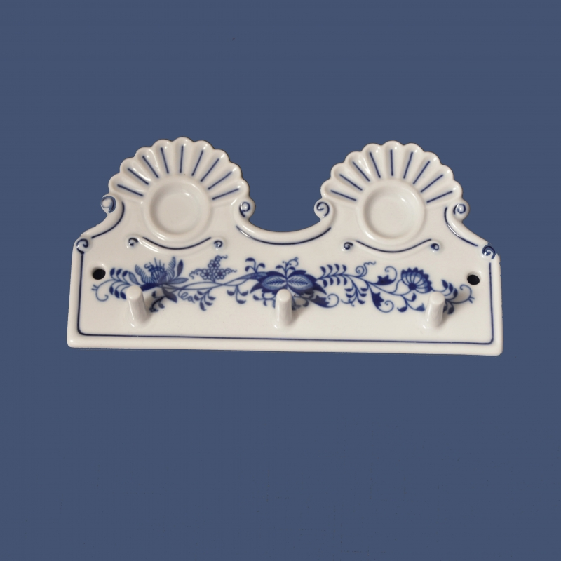 cibulák kuchyňský věšák s dírkami 18 cm věšák originální český porcelán Dubí 2.jakost